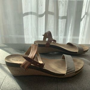 Cognac and Blue & Tan Stripe Sandals for Merona